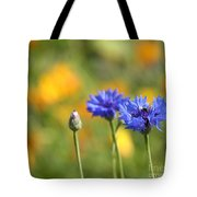 Cornflowers -1- Tote Bag by Issabild -