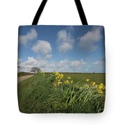 Cornish Daffodil Hedge Tote Bag