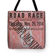 Corona Road Race 1914 Tote Bag