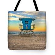 Coronado Beach Lifeguard Tower At Sunset Tote Bag