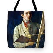 Corot With Easel, 1825 Tote Bag