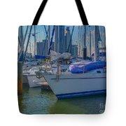 Corpus Christi Marina Tote Bag by Tony Baca