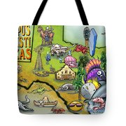 Corpus Christi Texas Cartoon Map Tote Bag