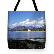 Corran Lighthouse Western Shore Loch Linnhe Fort William Scotland Tote Bag