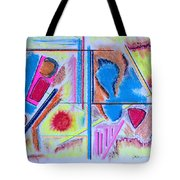 Corrosion In Sectors Tote Bag