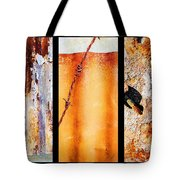 Corrugated Iron Triptych #8 Tote Bag