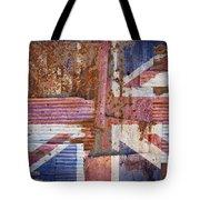 Corrugated Iron United Kingdom Flag Tote Bag