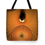 Corrugations In Orange Tote Bag