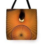 Corrugations In Orange Tote Bag