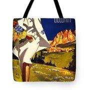 Cortina Dolomiti Italy Vintage Poster Restored Tote Bag