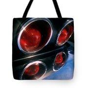 Corvette Tail Lights Tote Bag