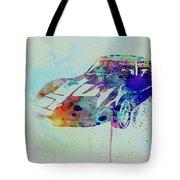 Corvette Watercolor Tote Bag by Naxart Studio