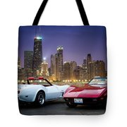 Corvettes In Chicago Tote Bag