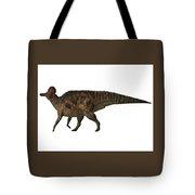 Corythosaurus On White Tote Bag