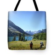 Cosley Ridge Over Cosley Lake - Glacier National Park Tote Bag