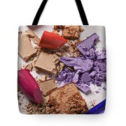 Cosmetics Mess Tote Bag by Garry Gay