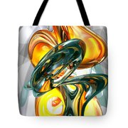 Cosmic Flame Abstract Tote Bag
