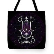 Cosmic Hamsa Tote Bag