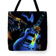Cosmic Rock Guitar Tote Bag