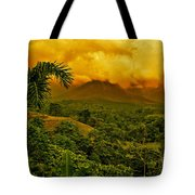 Costa Rica Volcano Tote Bag