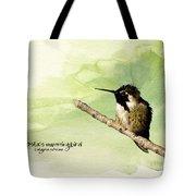 Costa's Hummingbird  Tote Bag