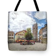 Cosy Old Mountain Village Tote Bag