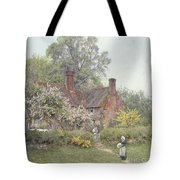 Cottage At Chiddingfold Tote Bag by Helen Allingham