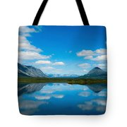 Cottage At Lake  Tote Bag