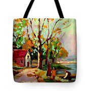 Cottage Country The Eastern Townships A Romantic Summer Landscape Tote Bag