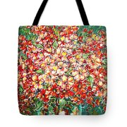Cottage Garden Flowers Tote Bag