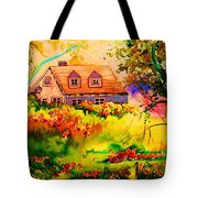 Cottage In Maine Tote Bag