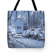 Cottage In The Woods Tote Bag