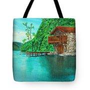 Cottage On Lake  Tote Bag