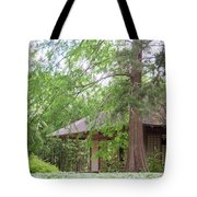 Cottage Orange Island  Louisiana  Tote Bag