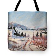 Cottage Road Tote Bag