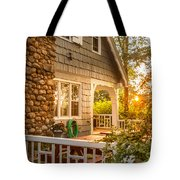 Cottage Sunset In Deep Cove, Nova Scotia Tote Bag
