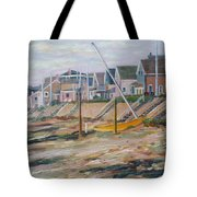 Cottages Along Moody Beach Tote Bag