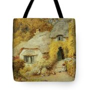 Cottages At Selworthy, Somerset Tote Bag