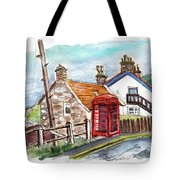Cottages In Runswick Bay Tote Bag