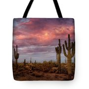 Cotton Candy Pink Sonoran Sunrise  Tote Bag