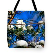 Cotton Pickin Snow Tote Bag