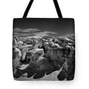 Cottonwood Creek Strange Rocks 2 Bw Tote Bag