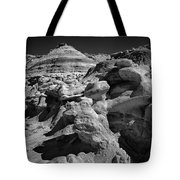 Cottonwood Creek Strange Rocks 6 Bw Tote Bag