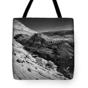 Cottonwood Creek Strange Rocks 7 Bw Tote Bag
