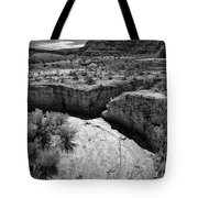Cottonwood Creek Water Drainage 1 Bw Tote Bag