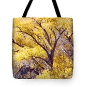 Cottonwood Golden Leaves Tote Bag
