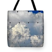 Couds With Lights Tote Bag