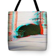 Cougar - Use Red-cyan 3d Glasses Tote Bag