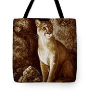 Cougar Wait Until Dark  Tote Bag
