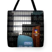 Countdown Clock Olympic Winter Games Vancouver Bc Canada 2010 Tote Bag by Christine Till